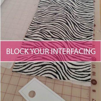 block your interfacing
