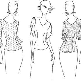 fashion illustration short sleeves