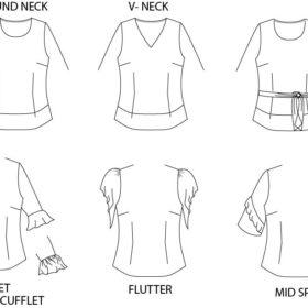 short sleeve fashion flat