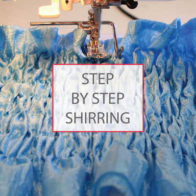 step by step shirring