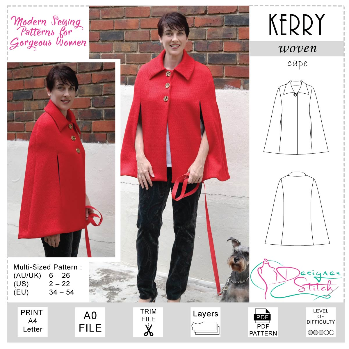 Kerry Capelet Sewing Pattern Pdf Designer Stitch