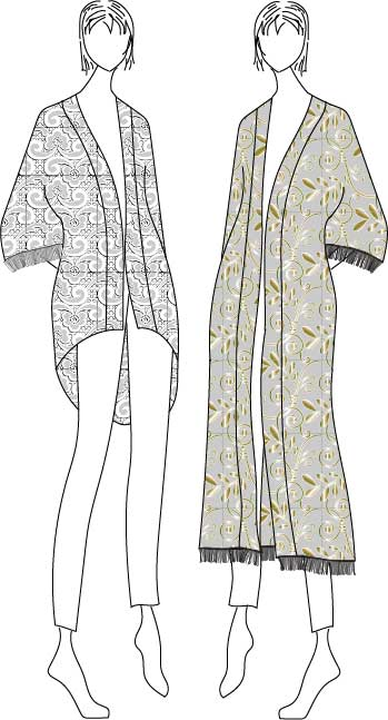 Willow Kimono Sewing Pattern (PDF) - Designer Stitch