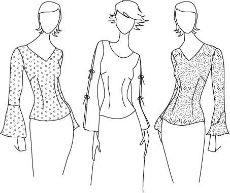 fashion illustration long sleeves