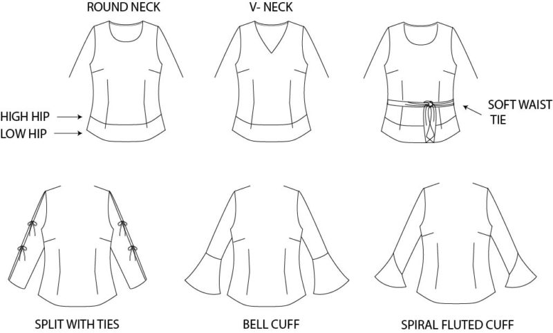 long sleeve fashion flat