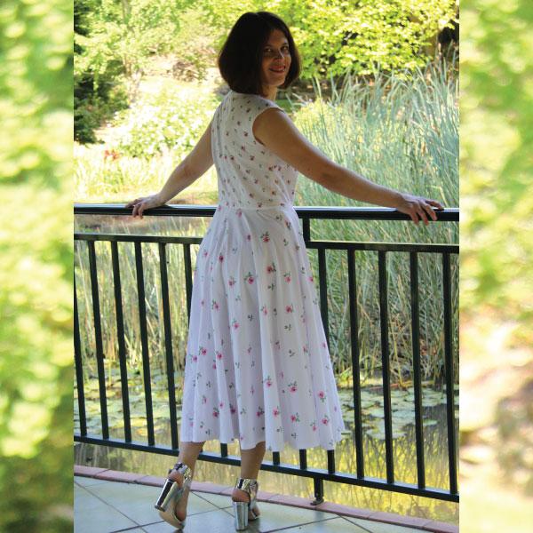 Kate Vintage Tea Dress Sewing Pattern Pdf Designer Stitch