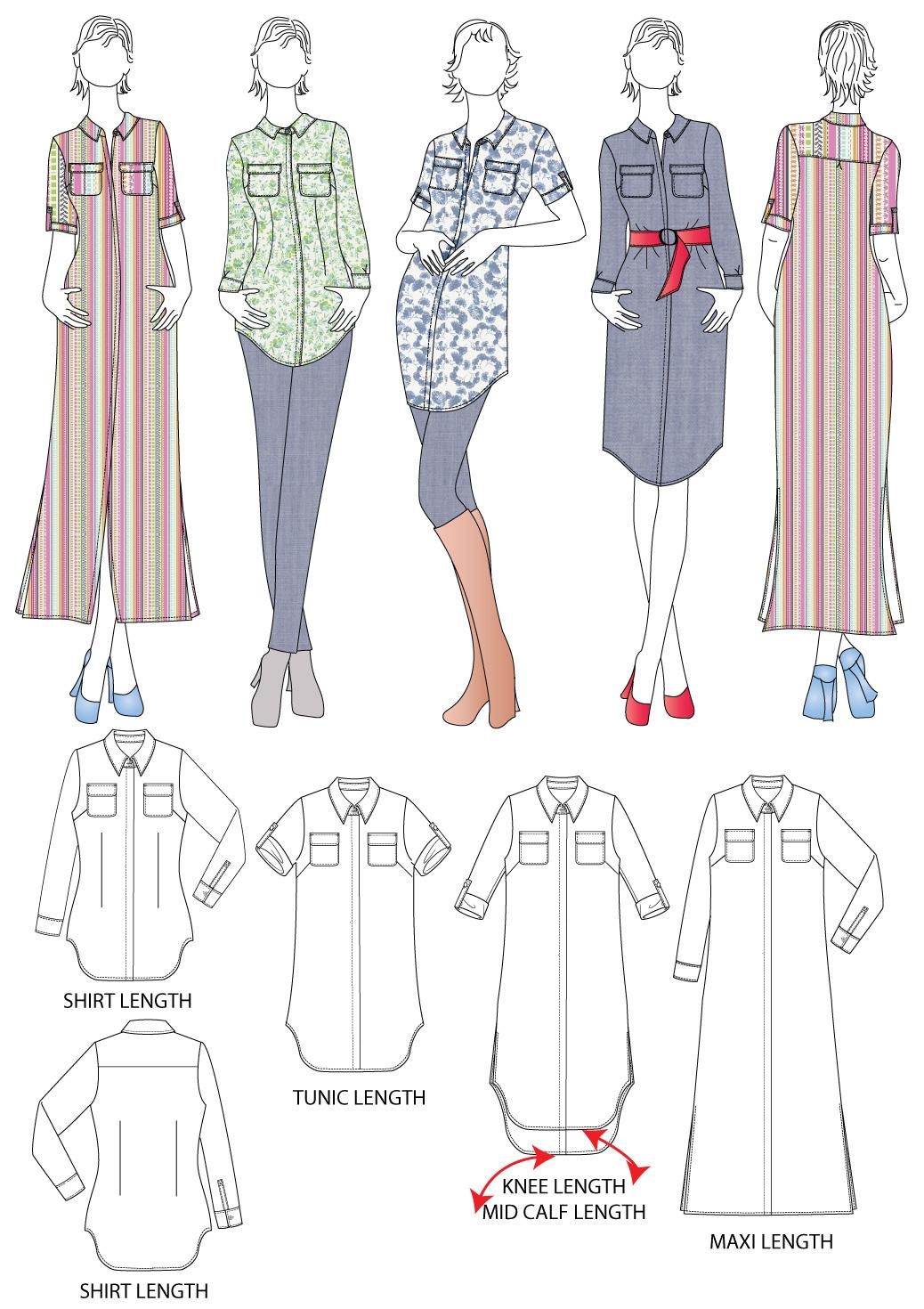 Sedona Shirt Dress Tester Roundup Part 1 Designer Stitch